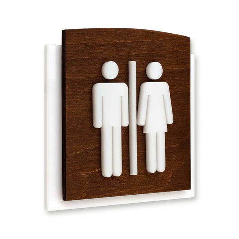 Wood All Gender Signs for Bathroom