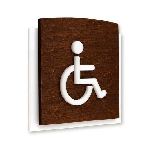 Wheelchair Wooden Bathroom Signs