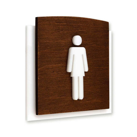 Wooden Restroom Signs for Woman