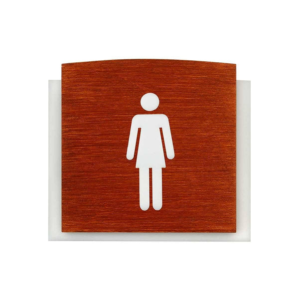 Wooden Restroom Signs for Woman Bathroom Signs Redwood Bsign