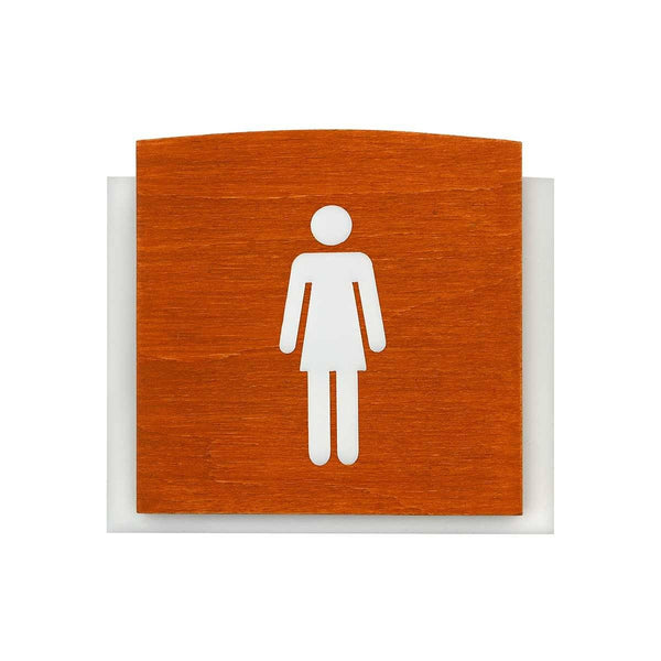 Wooden Restroom Signs for Woman Bathroom Signs Walhunt Bsign