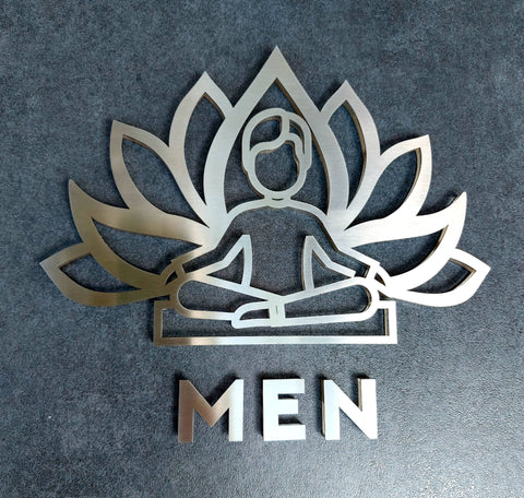 Yoga Men Restroom Sign