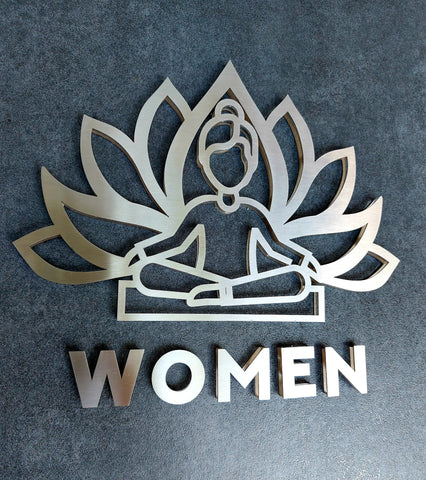 Yoga Restroom Sign