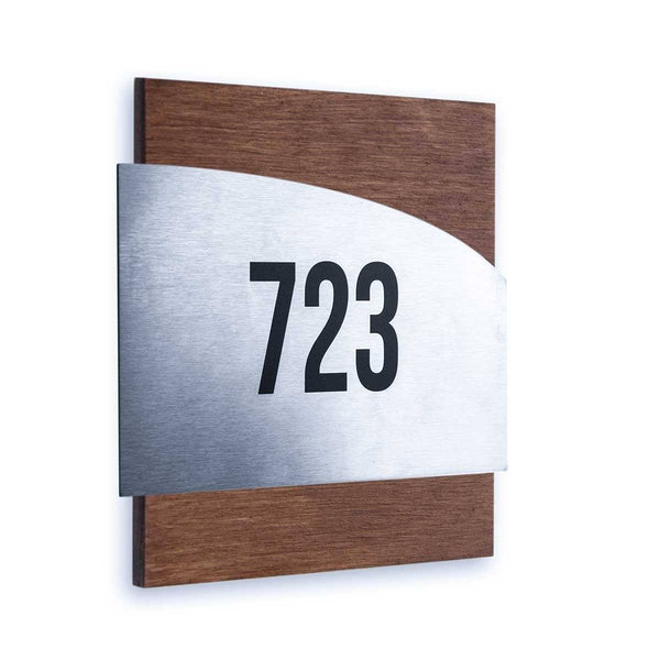 Hotel Door Numbers indian rosewood color