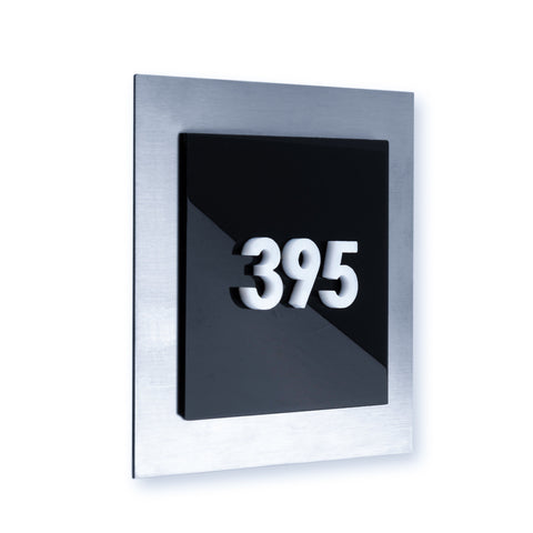 Door Numbers with Steel Plate
