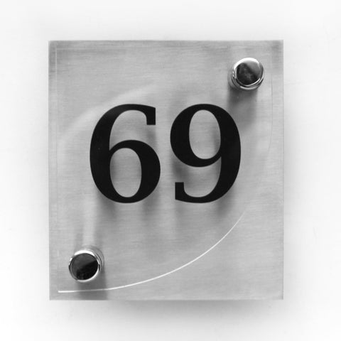 Door Numbers with Glass Plate