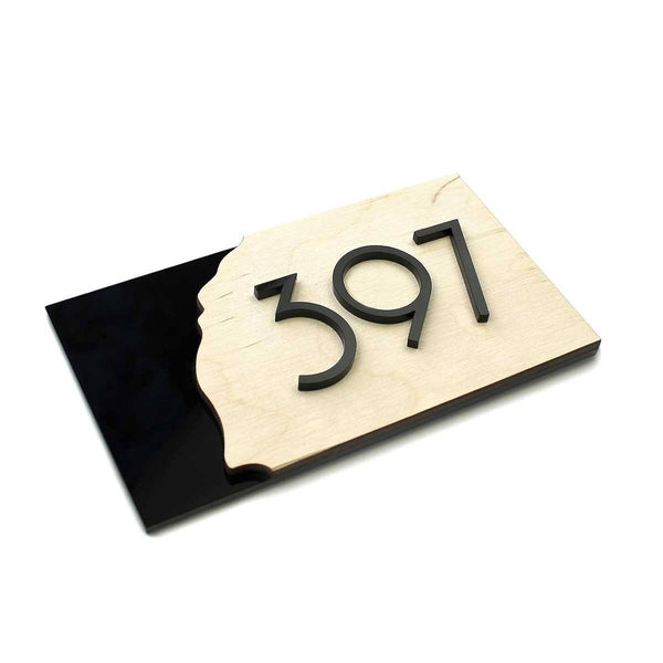 Wood Door Numbers Natural wood Bsign Door Numbers Bsign