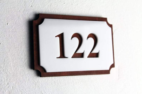 Wood Room Numbers Door Numbers horizontal Bsign Door Numbers Bsign