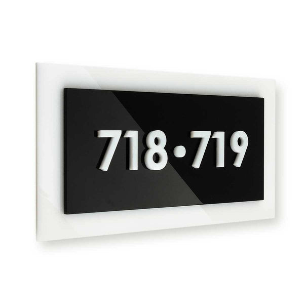 Acrylic Room Sign numbers