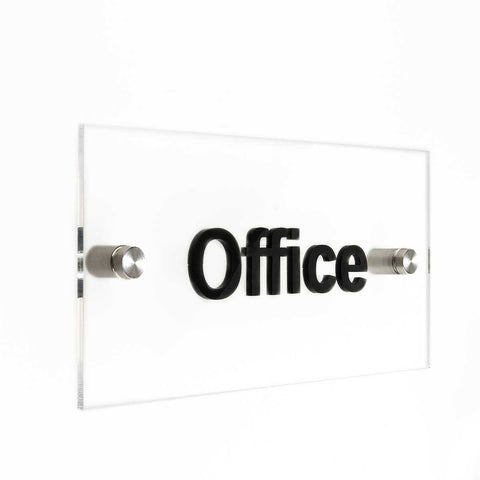 Acrylic Door Signs Door Signs glass/black words Bsign