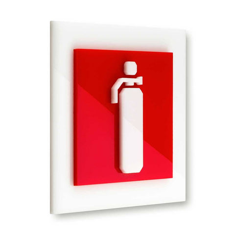 Acrylic Fire Extinguisher Safety Sign