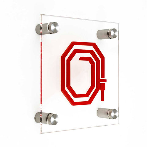 Safety Signs Fire Hydrant Information signs transparent acrylic / metal holders / screws and dowels Bsign