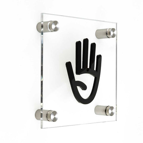 Acrylic Staff Only Sign for Office Information signs black symbol Bsign