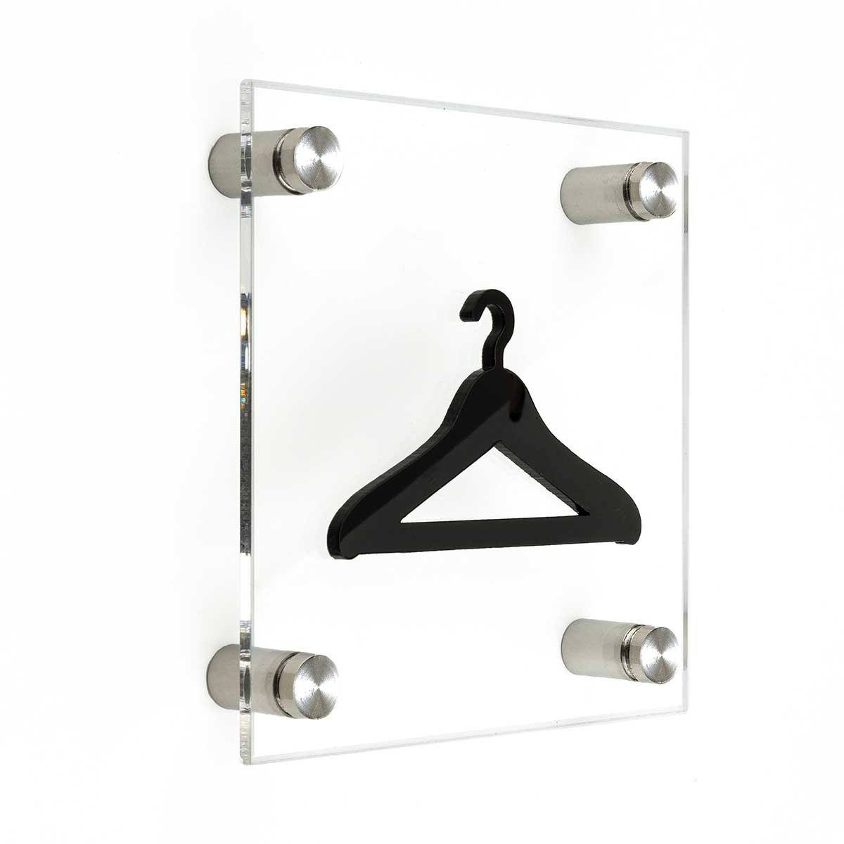 Acrylic Wardrobe Signs with Metal Holders