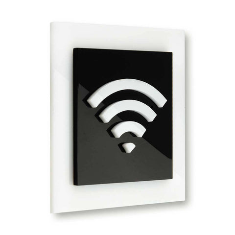 Acrylic Wi-Fi Sign for Waiting Room