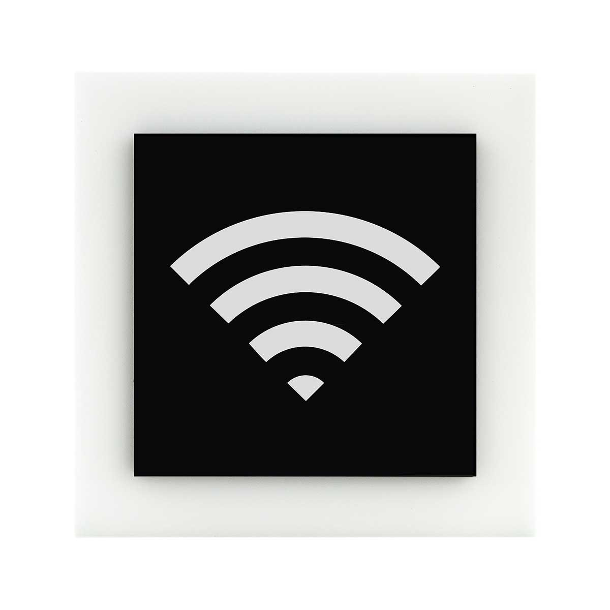 Acrylic Wi-Fi Sign for Waiting Room Information signs black/white symbol Bsign