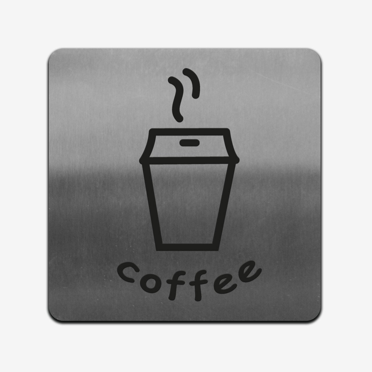 Coffee - Stainless Steel Sign Information signs square Bsign
