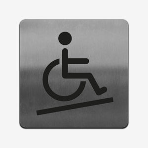 Disabled Access - Stainless Steel Sign Information signs square Bsign Information signs Bsign