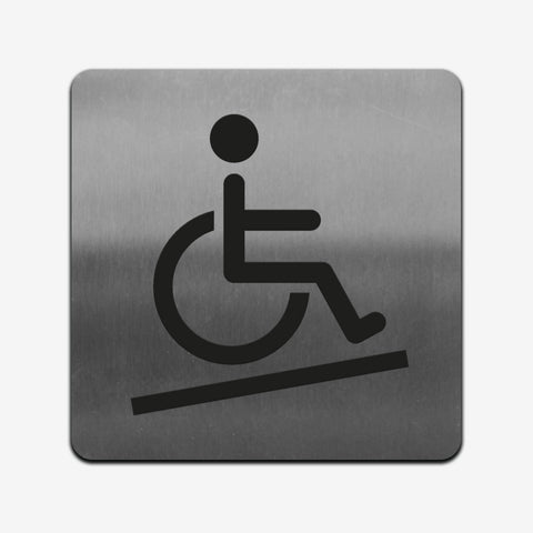 Disabled Access - Stainless Steel Sign