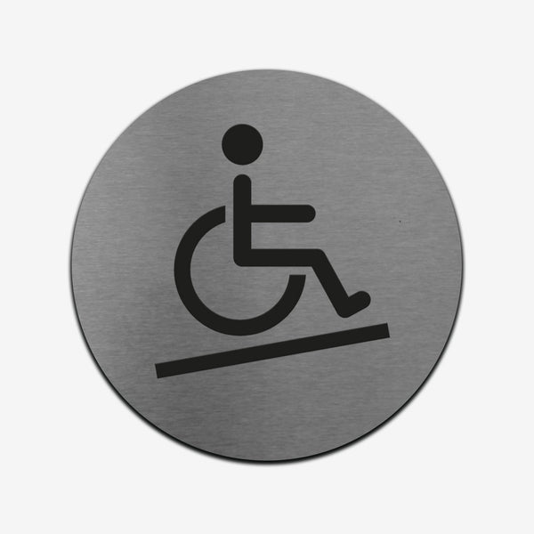 Disabled Access - Stainless Steel Sign Information signs circle Bsign Information signs Bsign