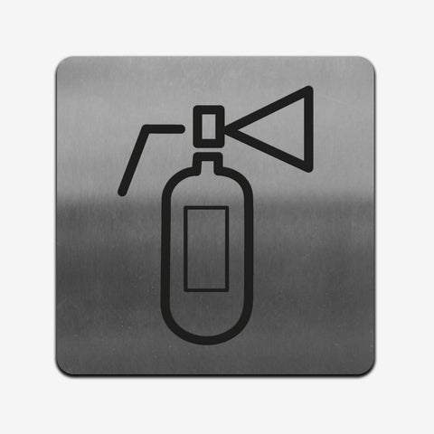 Extinguisher - Stainless Steel Sign