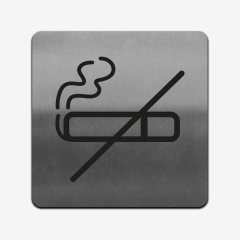 No Smoke - Stainless Steel Sign