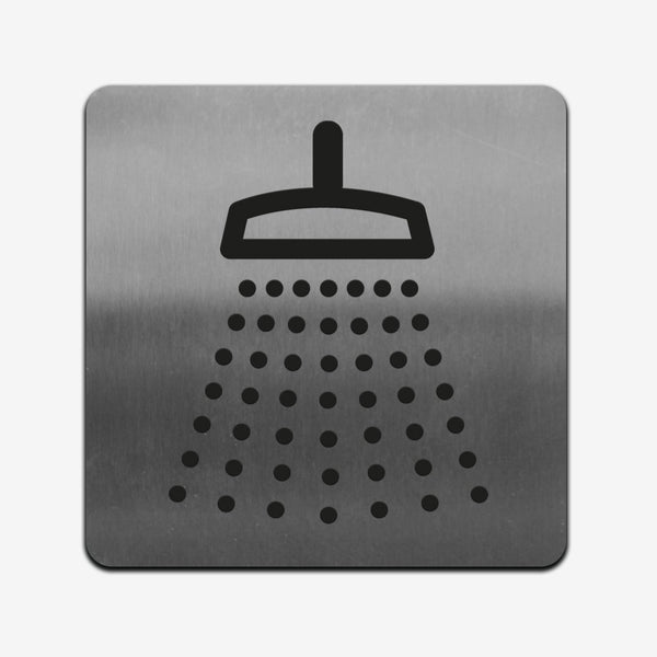 Shower - Stainless Steel Sign square Information signs square Bsign