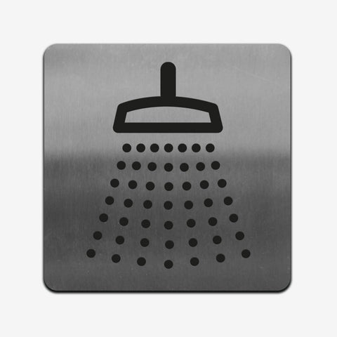 Shower - Stainless Steel Sign