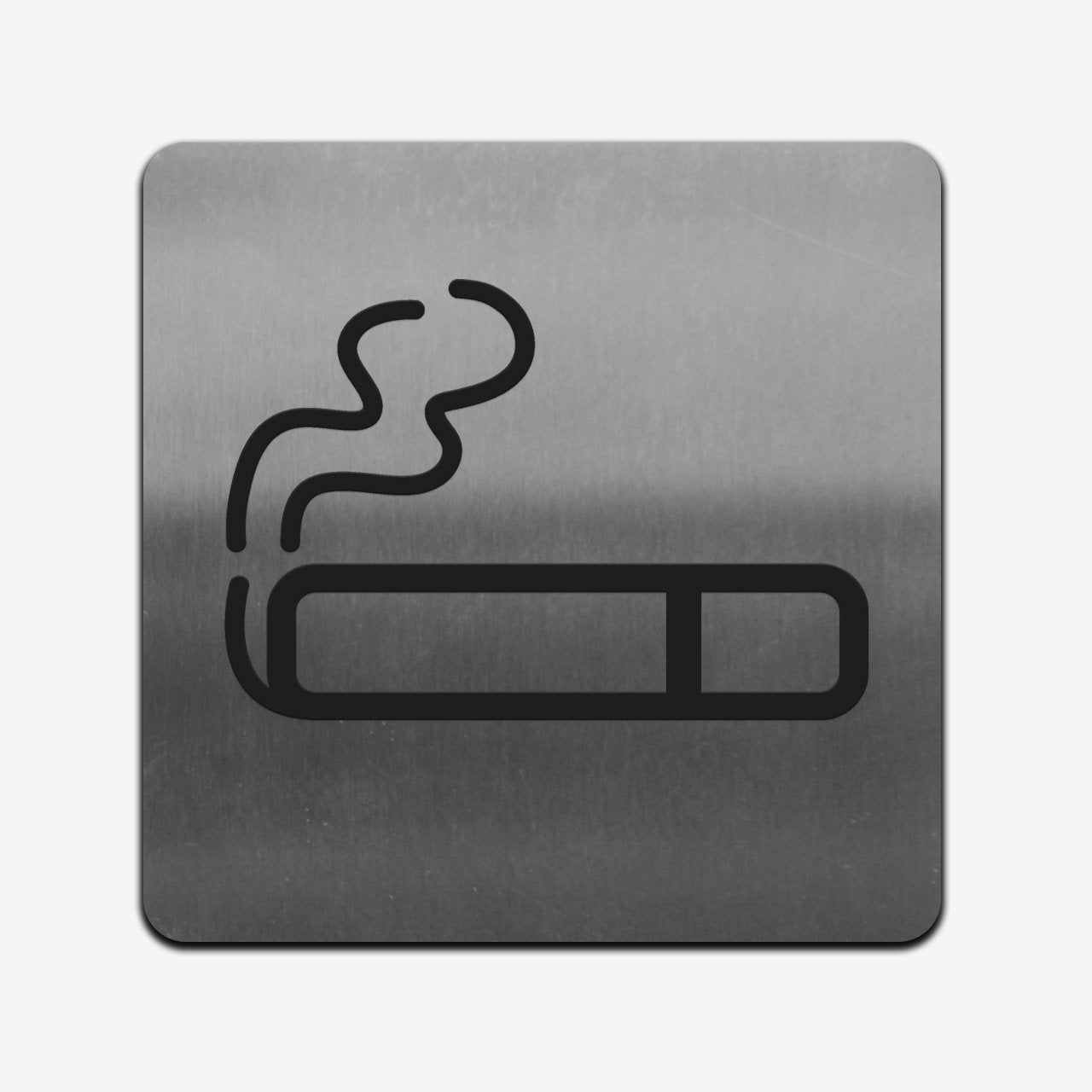 Smoke Zone - Stainless Steel Sign Information signs square Bsign