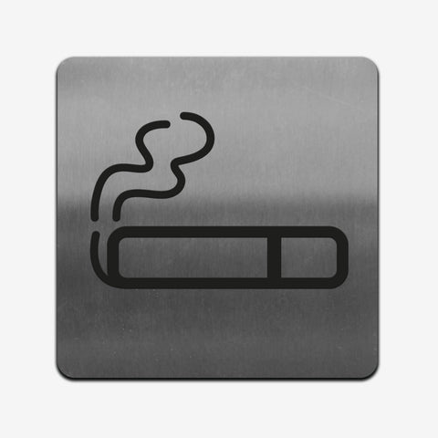 Smoke Zone - Stainless Steel Sign