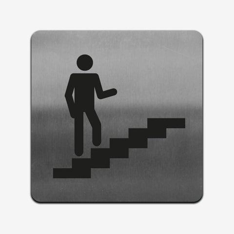 Stairs Interior Indicator- Stainless Steel Sign