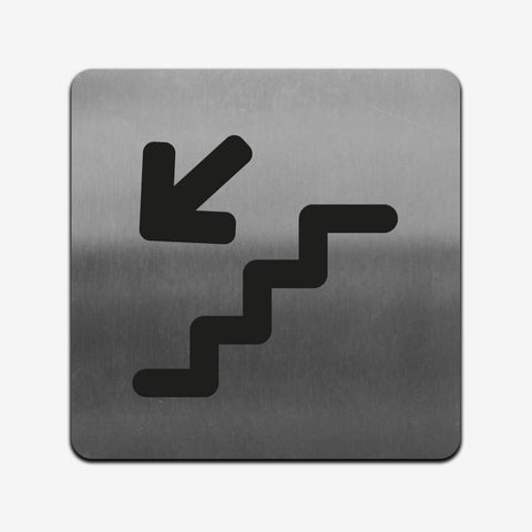 Stairs - Stainless Steel Sign