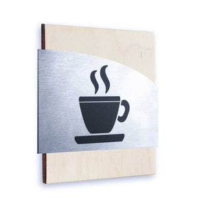 Steel Kitchen Wall Signs Information signs Natural wood Bsign Information signs Bsign