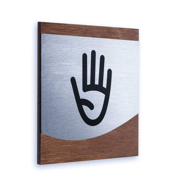 Office Staff Only Wall Sign Information signs Indian Rosewood Bsign