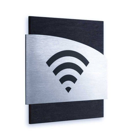 Steel Wi-Fi Plate for Waiting Room