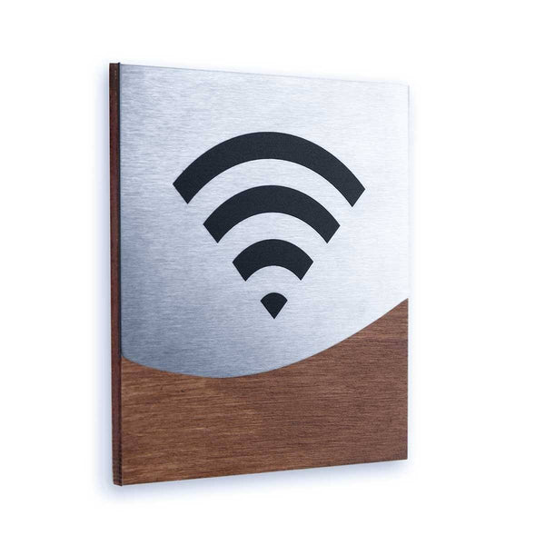 Steel Wi-Fi Signs Information signs Indian Rosewood Bsign