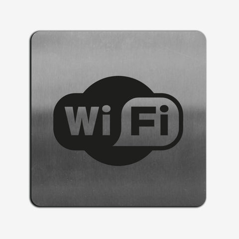 Wi-Fi Zone - Stainless Steel Sign