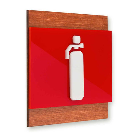 Extinguisher Fire Safety Wooden Wall Sign