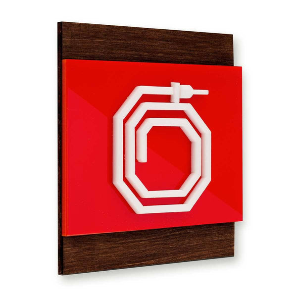 Fire Hydrant Wooden Wall Sign Information signs Indian Rosewood Bsign