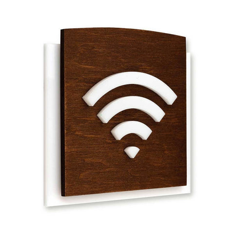 Wooden Wi-Fi Plate for Waiting Room