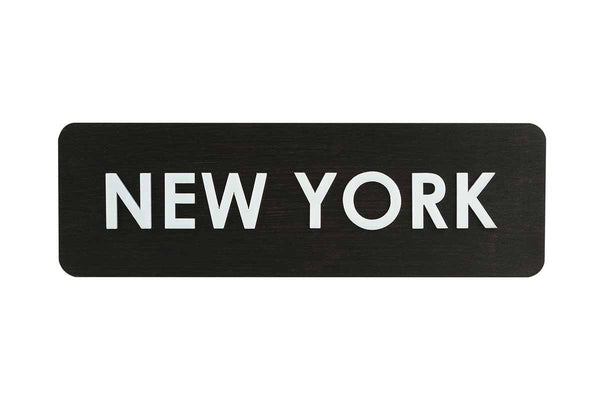 City Name Wooden World Clock Sign Dark Wenge Bsign