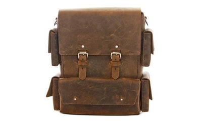 A handcrafted leather backpack by ColsenKeane Leather