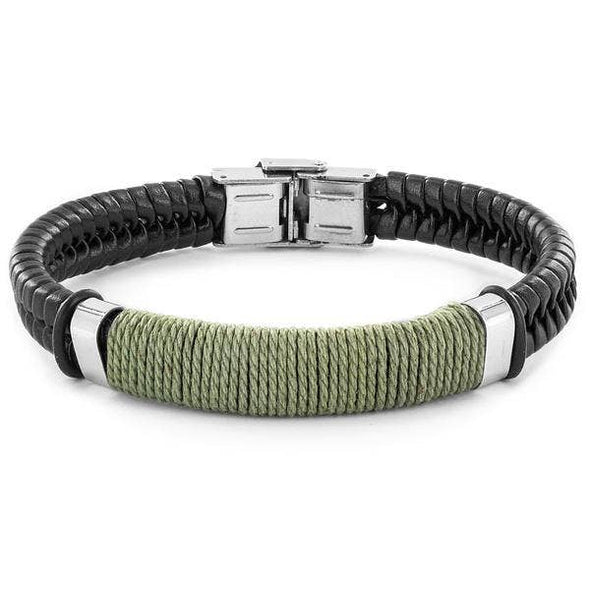 Crucible Wrapped Twine Leather Bracelet