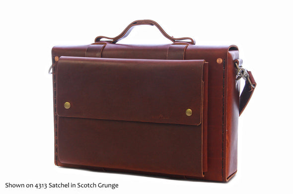 No. 4313 - Minimalist Large Leather Satchel in Havana Brown