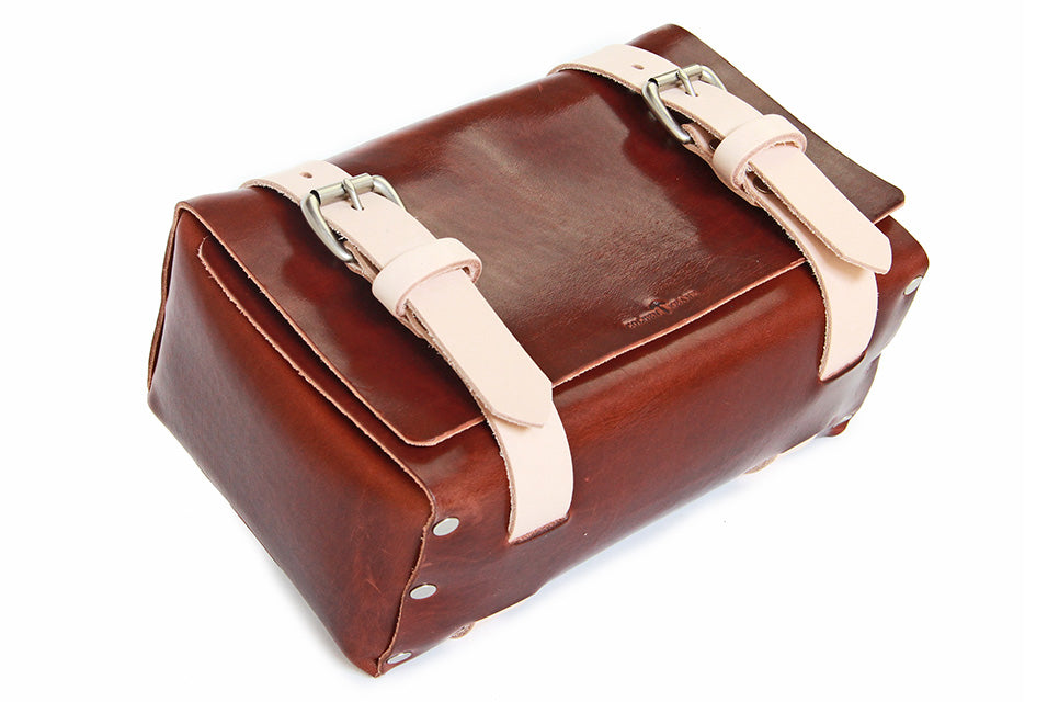 No. 215 - Large Travel Case in Two Tone Natural Tan & Havana Brown