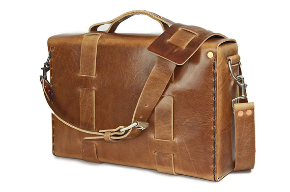 No. 4313 - Minimalist Standard Leather Satchel in Glazed Montana - LIMITED RUN - ONLY FOUR AVAILABLE