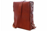 No. 820 The Classic Handmade Leather Bag in Rich Pebbled Brown