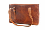 No. 714 - Tote in Glazed Tan