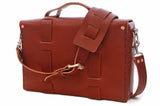 No. 4313 Minimalist Standard Satchel in Rich Pebbled Brown - 4 Bags Left!