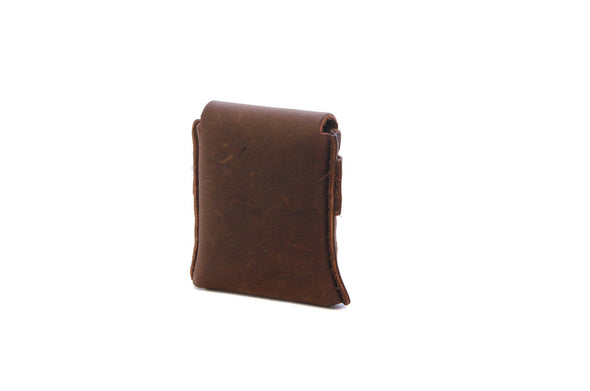 No. 1111 - LIMITED Square MicroWallet w/ Cover in Crazy Horse